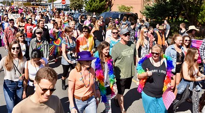 Color was the order of the day for the Redwood Pride parade. Jose Quezada — For Times-Standard