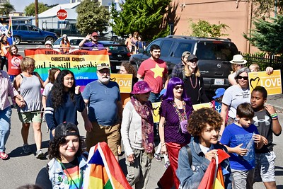 Marching for pride, marching with the LGBTQ community in Arcata. (Jose Quezada — For the Times-Standard)