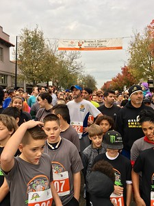 Cool morning temperatures made running — and walking — a breeze for around 1,600 participants in the 9th Annual Yolo Food Bank Running of the Turkeys in downtown Woodland.