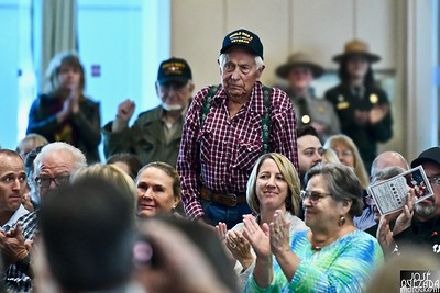 One of a handful of World War II veterans to be recognized.