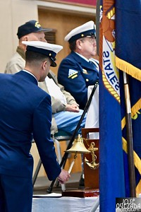 A bell is rung for each life activity, dream or experience not lived by those who gave their life for the country as part of the Missing Man Table ceremony.