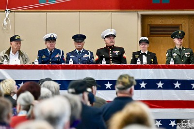 A close-up of the south wing of the Honor Table at the Veterans day observance ceremony.