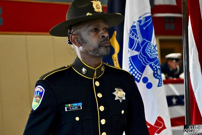 Humboldt County Deputy Sheriff Greg Allen assisted with carrying of the colors.