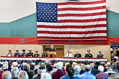 Veterans from many United States conflicts gathered at the Adorni Center Sunday.