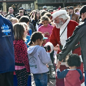 Santa returned Saturday to Old Town Eureka his usual sweet self. José Quezada—For Times-Standard