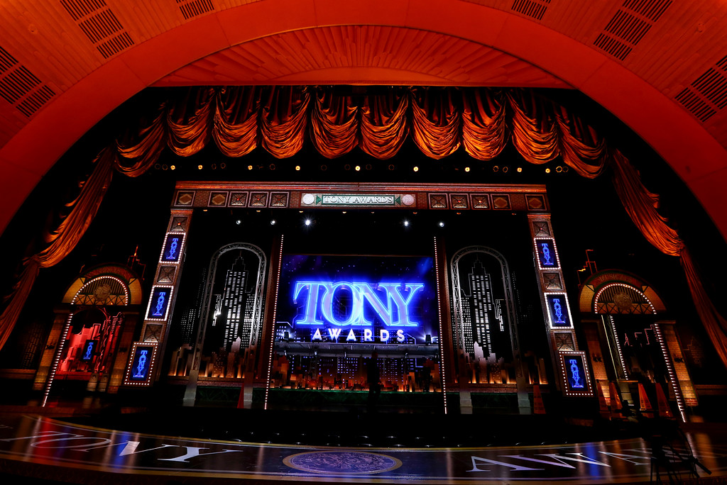 . A view of the stage at the 71st annual Tony Awards on Sunday, June 11, 2017, in New York. (Photo by Michael Zorn/Invision/AP)