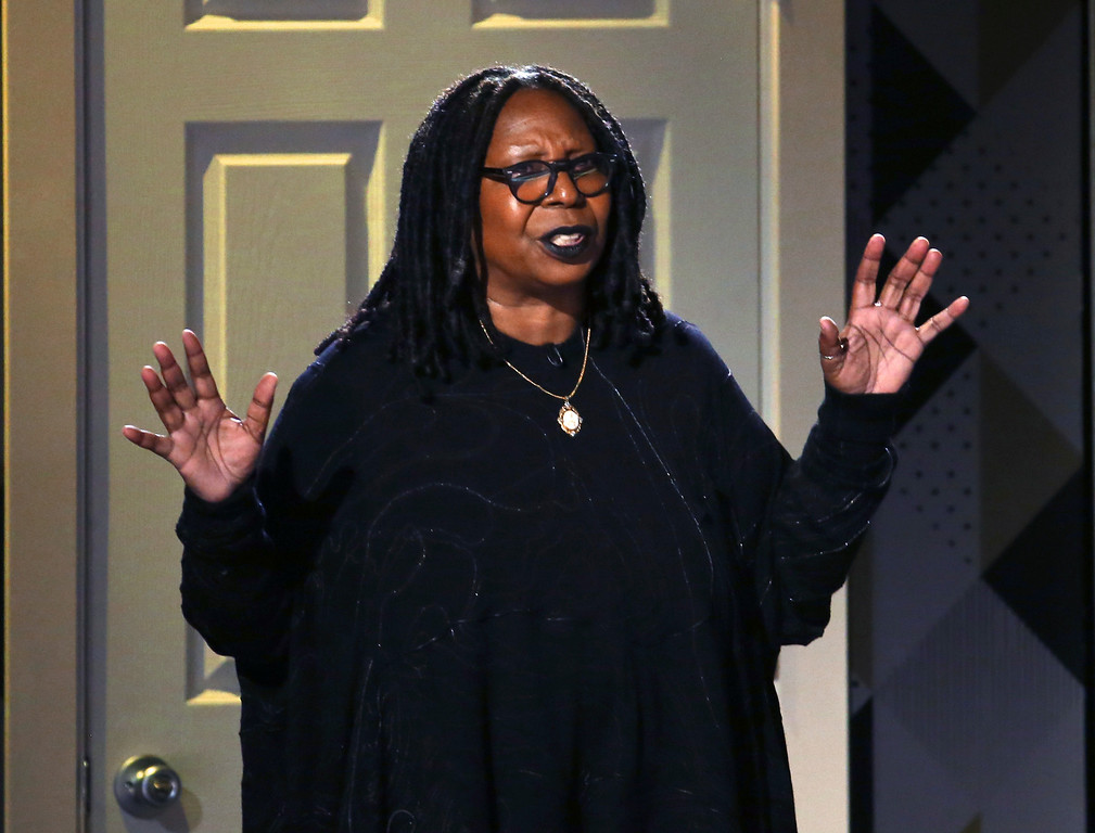 . Whoopi Goldberg speaks at the 71st annual Tony Awards on Sunday, June 11, 2017, in New York. (Photo by Michael Zorn/Invision/AP)