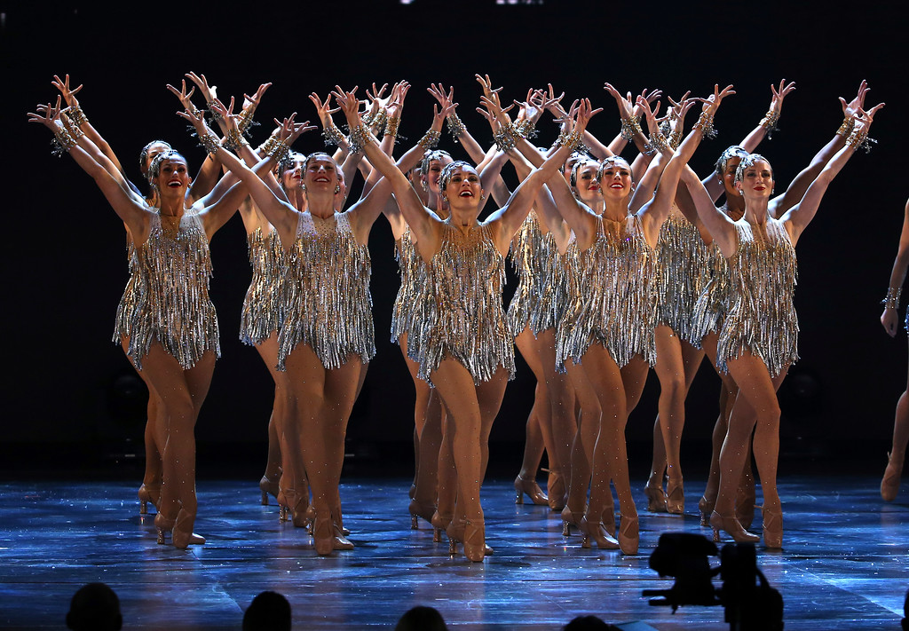 ". The Rockettes perform ""New York, New York\"" at the 71st annual Tony Awards on Sunday, June 11, 2017, in New York. (Photo by Michael Zorn/Invision/AP)"