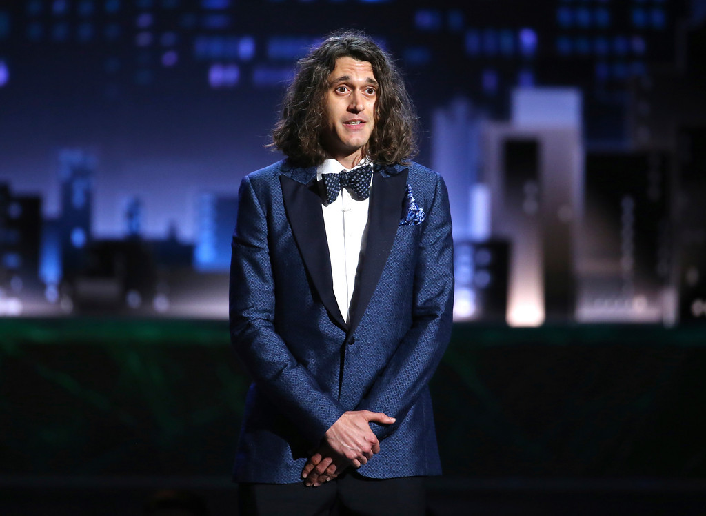 . Lucas Hnath speaks at the 71st annual Tony Awards on Sunday, June 11, 2017, in New York. (Photo by Michael Zorn/Invision/AP)