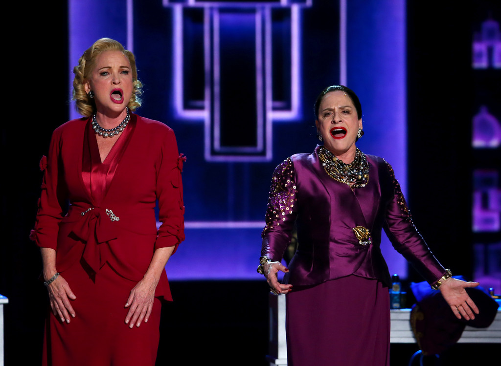 ". Christine Ebersole, left, and Patti Lupone of ""War Paint\"" perform at the 71st annual Tony Awards on Sunday, June 11, 2017, in New York. (Photo by Michael Zorn/Invision/AP)"