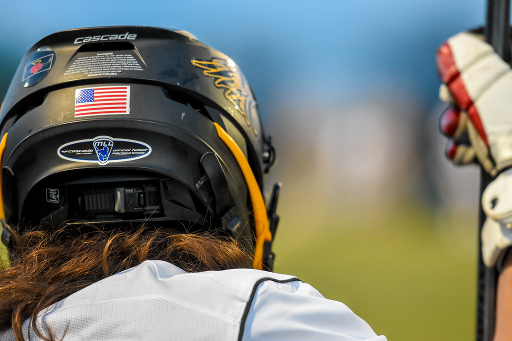 . Thompson Valley\'s Trey Cardenas looks on from the sideline against Ponderosa on Tuesday May 1, 2018 at Patterson Stadium. (Cris Tiller / Loveland Reporter-Herald)