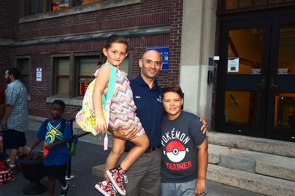 PHOTOS: Troy dads take their kids to school
