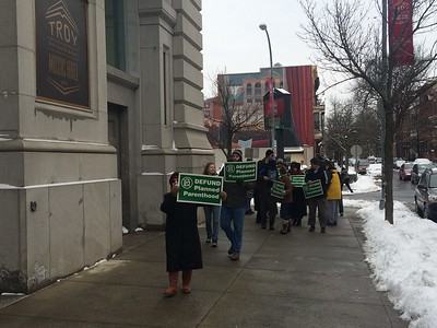 PHOTOS: Troy rally to defund Planned Parenthood