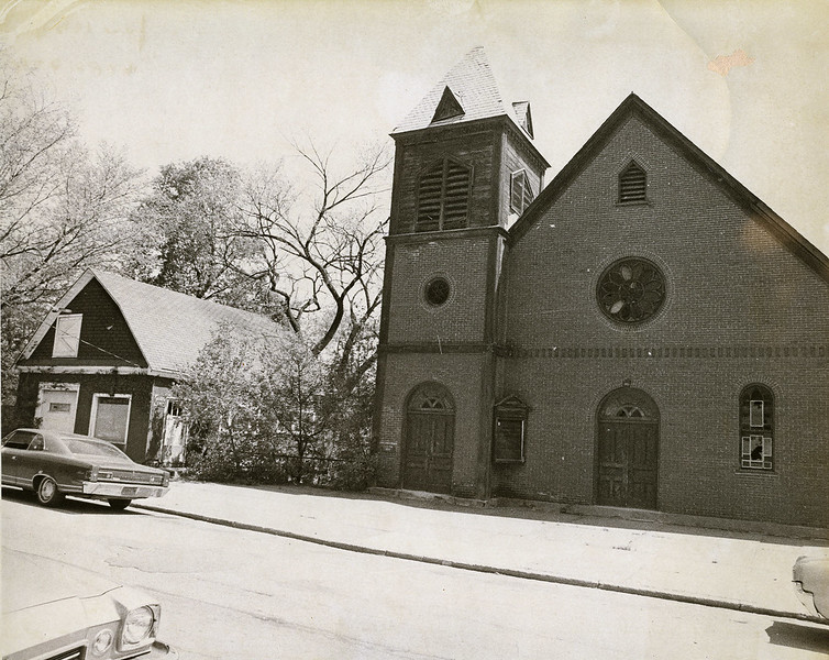 1970 Photo of AME Zion Church located at 34 Maple Avenue. Demolished as part of the Urban Renewal Program. Photo Credit: Saratoga Springs City Historian Archives.