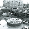1983 Photo of Lake Avenue under construction for infrastructure improvements. Photo Credit: Saratoga Springs City Historian Archives