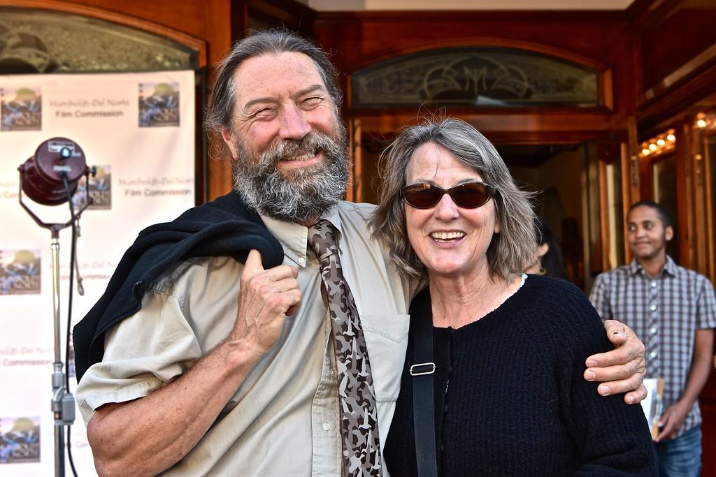 . Steve and Ann Warner of the Humboldt-Del Norte Film Commission. José Quezada�For Times-Standard