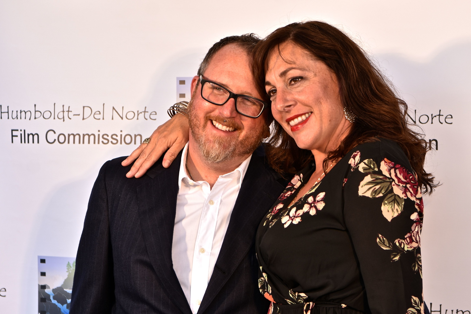 Nate Adams and Cassandra Roberts Hesseltine of the Humboldt Del Norte Film Commission. José Quezada—For Times-Standard