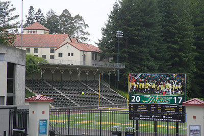 Shaun Walker — The Times-Standard  Redwood Bowl sits behind Van Matre and Founders halls at Humboldt State University on Thursday.