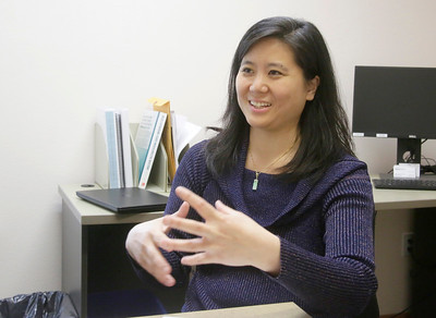 Shaun Walker — The Times-Standard  Dr. May Hong talks about the family practice residency program at Redwood Community Health Center in Eureka on Friday.