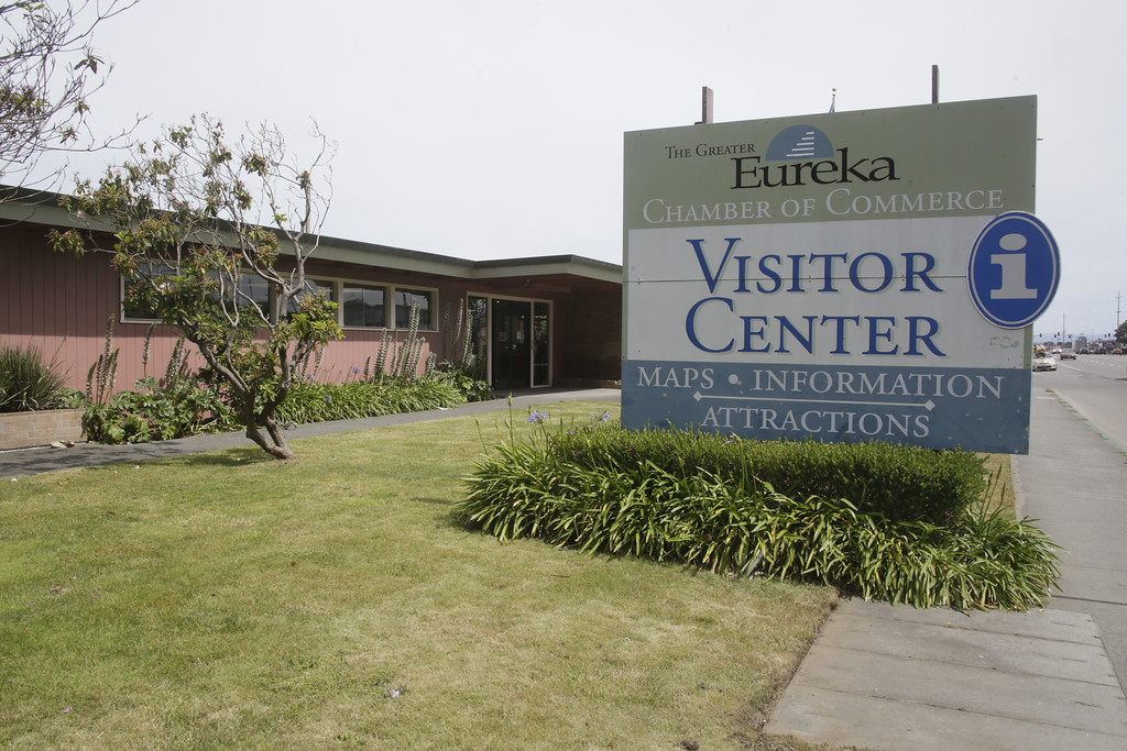 . Shaun Walker � The Times-Standard  The Greater Eureka Chamber of Commerce Visitor Center, located on Broadway at West Hawthorne Street, will be closing at the end of the month.