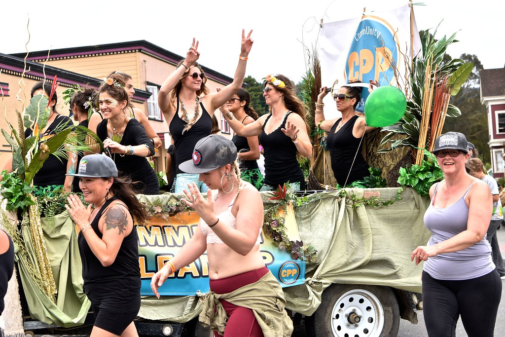 . Dancing on the float for the Yes We Cann parade.  José Quezada�For the Times-Standard