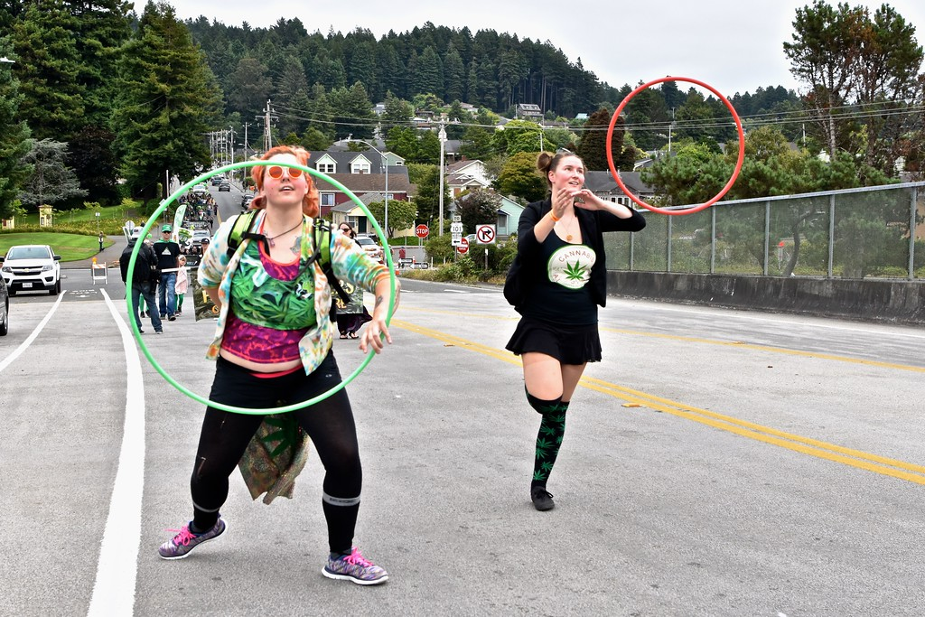 . Hooping it up over the 14th Street overpass.  José Quezada�For the Times-Standard