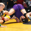 STAN HUDY - SHUDY@DIGITALFIRSTMEDIA.COM<br /> Averill Park's Peter Flick has  Ballston Spa's Jack Davis on his shoulders seconds before the pin during their 132-pound Suburban Council match Wednesday, Jan. 18, 2017 at Averill Park High School.
