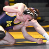 STAN HUDY - SHUDY@DIGITALFIRSTMEDIA.COM<br /> Averill Park's James Lacher is looking for relief against Ballston Spa's Jake Cook during their 182-pound Suburban Council match Wednesday, Jan. 18, 2017 at Averill Park High School.