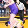 STAN HUDY - SHUDY@DIGITALFIRSTMEDIA.COM<br /> STAN HUDY - SHUDY@DIGITALFIRSTMEDIA.COM<br /> Ballston Spa heavyweight Matthew Smith looks to get out of the clutch of Averill Park's Nick Koch who went up two weight classes in the final bout Wednesday night in the Suburban Council crossover battle at Averill Park.