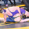 STAN HUDY - SHUDY@DIGITALFIRSTMEDIA.COM<br /> Ballston Spa heavyweight Matthew Smith looks to turn Averill Park's Nick Koch who went up two weight classes in the final bout Wednesday night in the Suburban Council crossover battle at Averill Park.