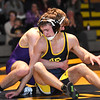 STAN HUDY - SHUDY@DIGITALFIRSTMEDIA.COM<br /> Averill Park's Cameron Roberts looks to sit out from under the grip of Ballston Spa's Mike Nealon during their 120-pound Suburban Council match Wednesday, Jan. 18, 2017 at Averill Park High School.