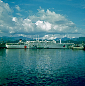 USS Sanctuary at Subic Bay, Philippines (July or August 1969)