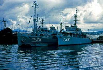 USS Excell (MSO 439) at Subic Bay, Philippines (July or August 1969)