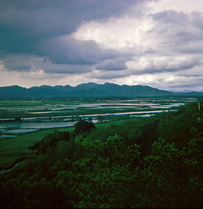 Looking across the water to China (New Territories Tour, July 1969)