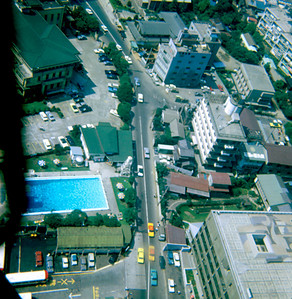 Looking down from the Tokyo Tower (Tokyo, Japan August 1969)