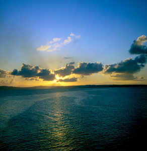 Leaving Okinawa at Sunset (July or August 1969)
