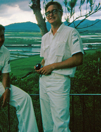 """""""Schindler"""" (RDSA) New Territories Tour, China in background.  (July 1969)"""