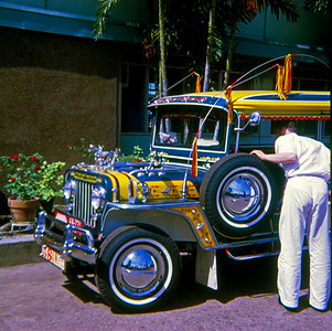 "The most popular means of public transportation in the Philippines is the ""Jeepney"". Read about them here: http://en.wikipedia.org/wiki/Jeepney"