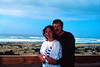 Sherry and me at Gold Beach, Oregon (Oct 30, 1986)