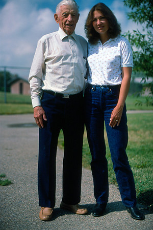 Sherry and her Great Uncle Heinie at Brighton, Colorado in July 1987.