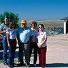 """At their home in Brighton, Colorado is Sherry's father's cousin """"Jessie"""" at far right. Standing between her and her husband, George Eppinger, is their daughter. I can't remember her name. Sherry and I are standing at left."""
