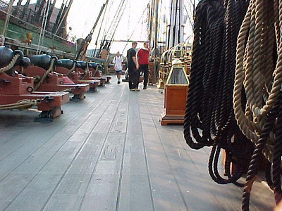 ON DECK USS CONSTITUTION at Charlestown Naval Station. (Boston, MA Aug 27, 2000)