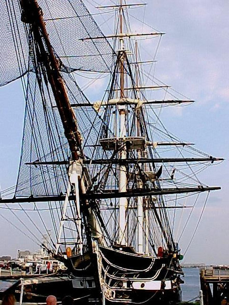 USS CONSTITUTION<br /> Launched in 1797, the USS CONSTITUTION, also known as Old Ironsides, is the oldest commissioned warship in the world. (Boston, MA Aug 27, 2000)