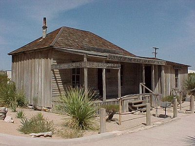 THE JERSEY LILLY, COURTROOM AND BAR OF JUDGE ROY BEAN (Sept 22, 2000 at Langtry, Texas)