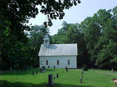 CHURCH: This 19th century Methodist church was the second one built on this site in Cades Cove.