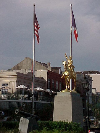 JOAN OF ARC STATUE ON DECATUR STREET (New Orleans, Sept 14, 2000)