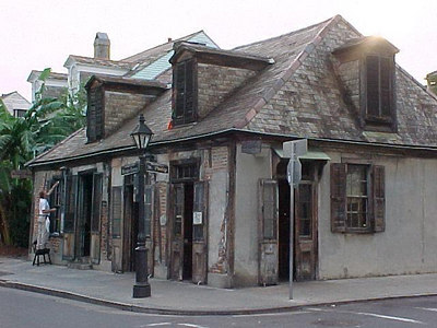 JEAN LAFITTE'S BLACKSMITH SHOP AND BAR Now a bar and restaurant, it is said to be one of the oldest buildings in New Orleans and that Jean Lafitte frequented the place often. (New Orleans, Sept 14, 2000)