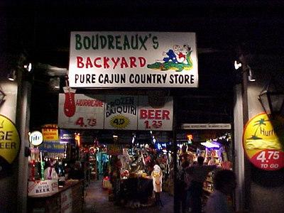 BOUDREAUX'S CAJUN COUNTRY STORE ON BOURBON STREET (New Orleans, Sept 13, 2000)