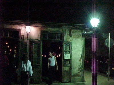JEAN LAFITTE'S BLACKSMITH SHOP AND BAR ON BOURBON STREET (This old building stands away from Bourbon Street's busy nightlife and is said to be frequented often by Jean Lafitte.) (New Orleans, Sept 13, 2000)