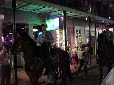 MOUNTED POLICE ON BOURBON STREET (New Orleans, Sept 13, 2000)